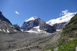 La Plaine des Six-Glaciers vue sur le glacier