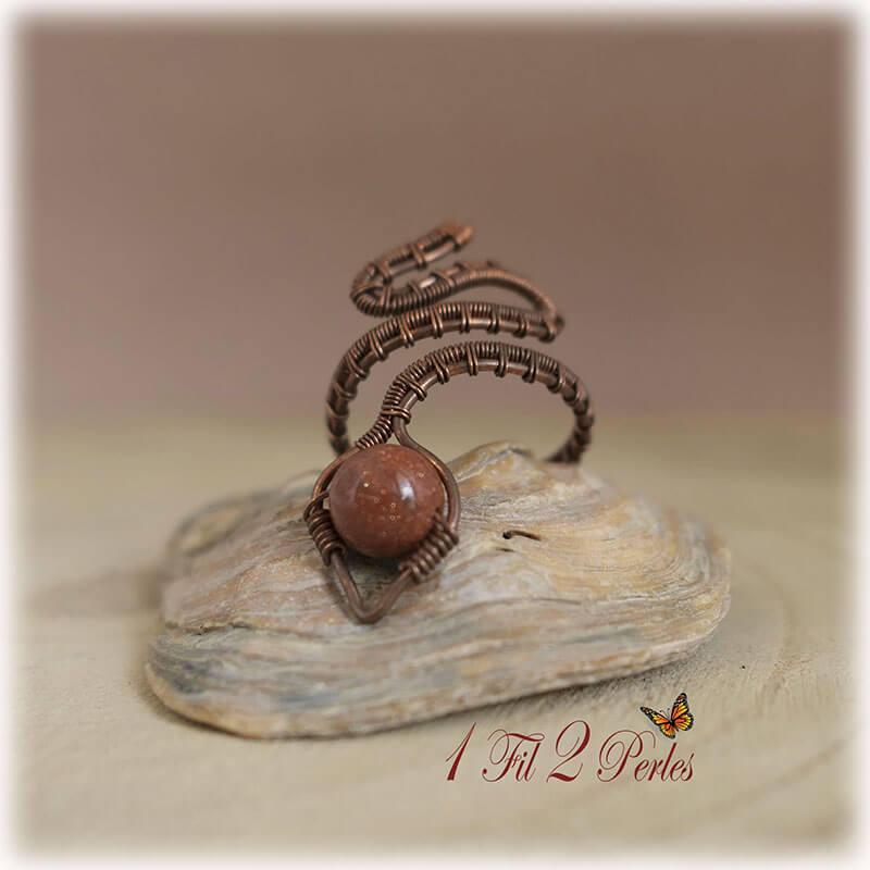 bague cuivre réglable wire wrapping