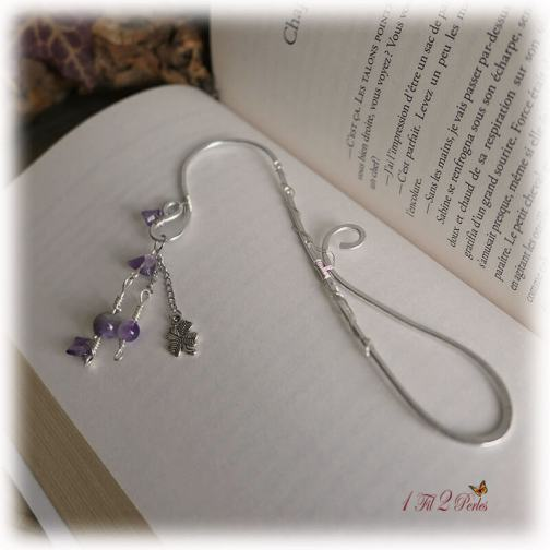 marque page alu amethyste wire wrapping 1