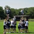 Fussball Cheerleader - die Blue Devils, roi