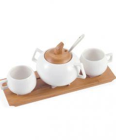 Coffee set + cukornička BAMBOO