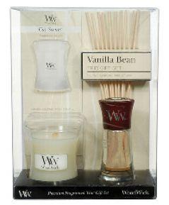 WoodWick sviečka - Vanilla Bean Trio Gift Set