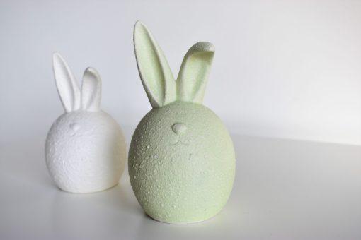 Dekoračný zajac zelený