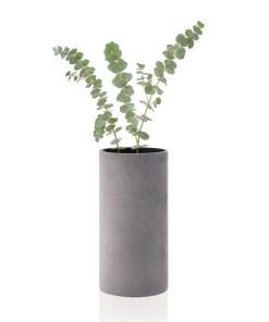 vaza-betonova-coluna-seda-24cm