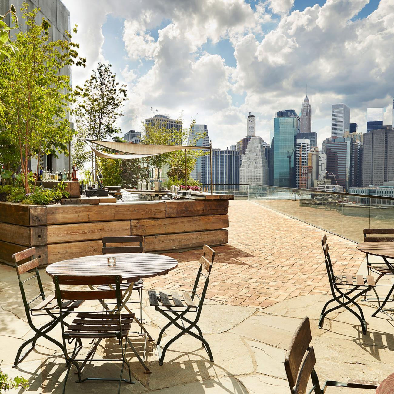 rooftop garden brooklyn 1 Rooftop Garden & Bar Brooklyn | 1 Hotel Brooklyn Bridge