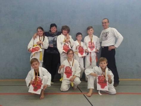 Erfolgreiche Kreismeister im Judo