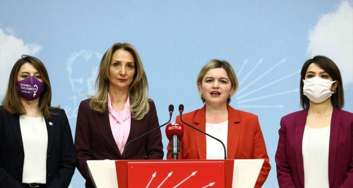 CHP'li kadın yöneticilerden İstanbul Sözleşmesi'ne ilişkin ortak açıklama