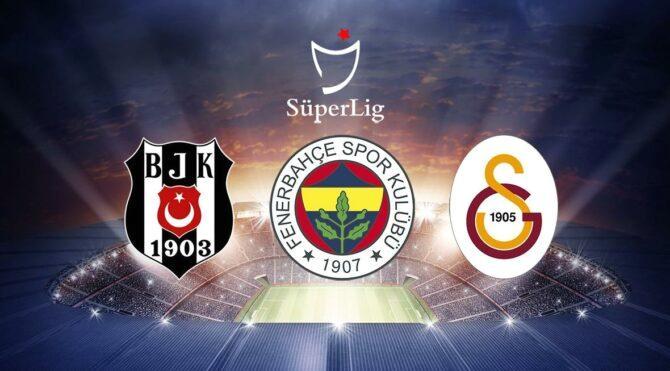 Beşiktaş Fenerbahçe ve Galatasaray'ın Süper Lig'de kalan maçları