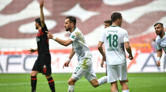 Konyaspor'un hasretini Cikalleshi şov yaparak sonlandırdı