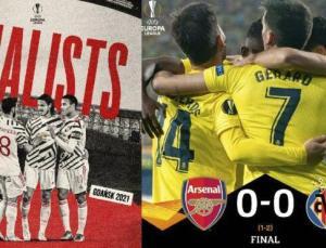 UEFA Avrupa Ligi'nde finalin adı Manchester United-Villarreal!