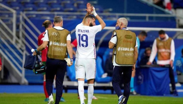 Almanya maçı öncesi Benzema sakatlandı