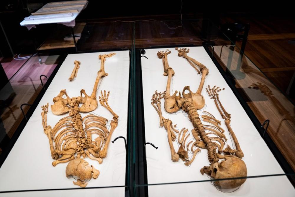 iki viking savascisinin kalintilari danimarka ulusal muzesinde 3 MeVZmG86