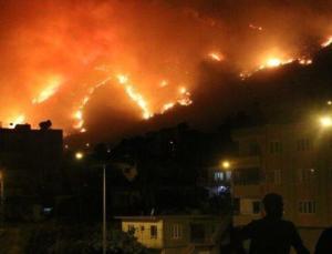 Aydıncık'taki yangın yerleşim yerlerini tehdit etmeye başladı