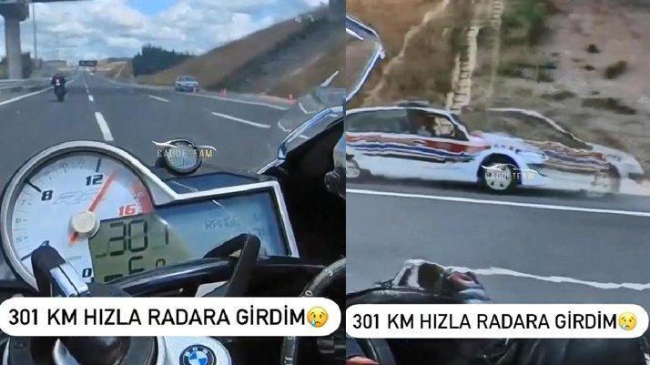 301 kilometre hızla radara girdi… cezayı yedi