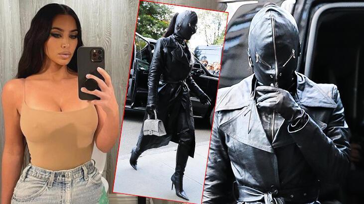 kim kardashian deri maskeyle tanınmaz halde
