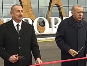 Cumhurbaşkanı Erdoğan, Fuzuli Havalimanı'na inen ilk lider oldu