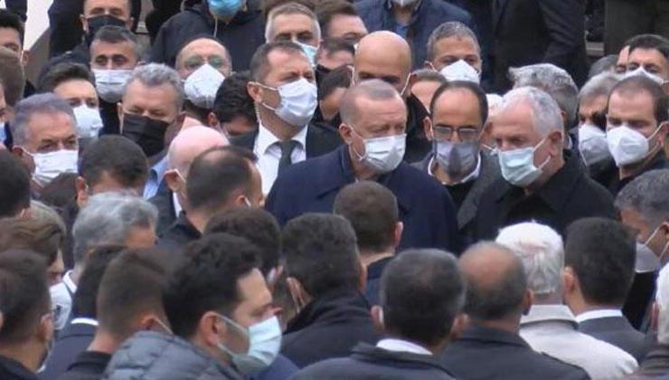 cumhurbaşkanı erdoğan iş insanı gür'ün cenazesine katıldı