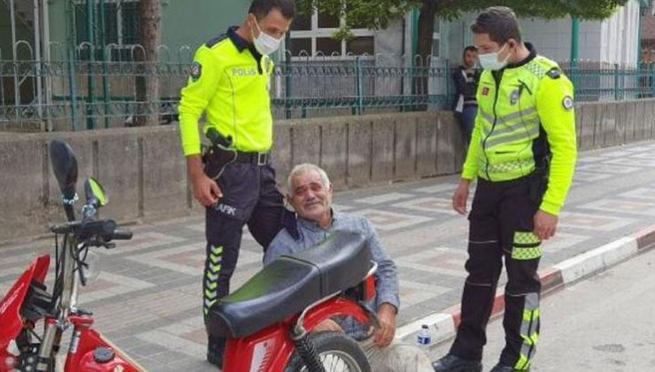 motosiklet sürücüsü, bin 300 lira cezayı duyunca fenalık geçirdi