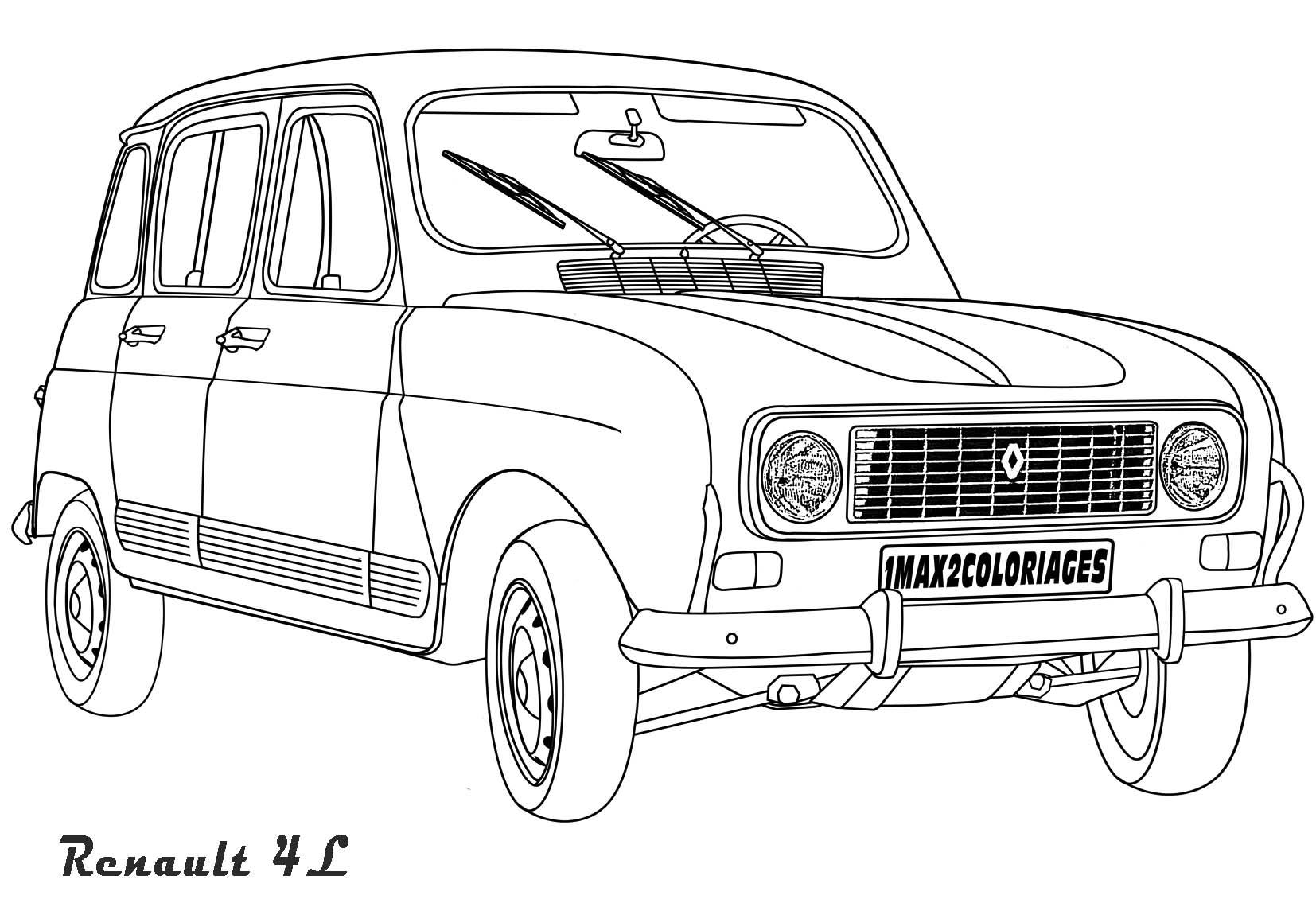 Coloriage De Voiture Renault