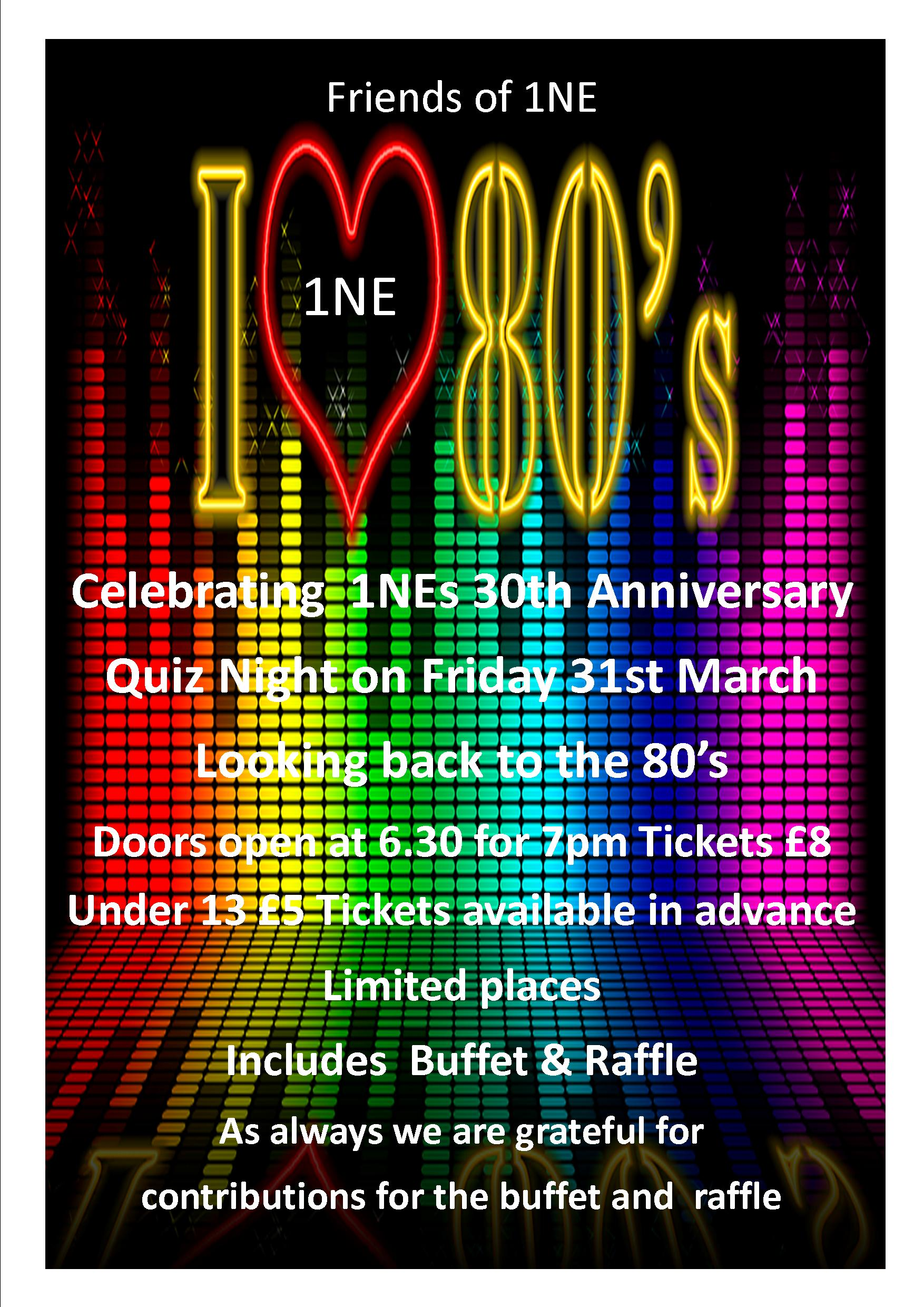 80 S Quiz Night 31st March