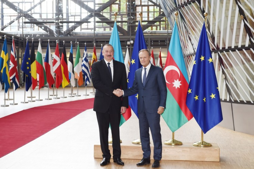 İlham Əliyevin Avropa və NATO rəsmiləri ilə görüş ile ilgili görsel sonucu