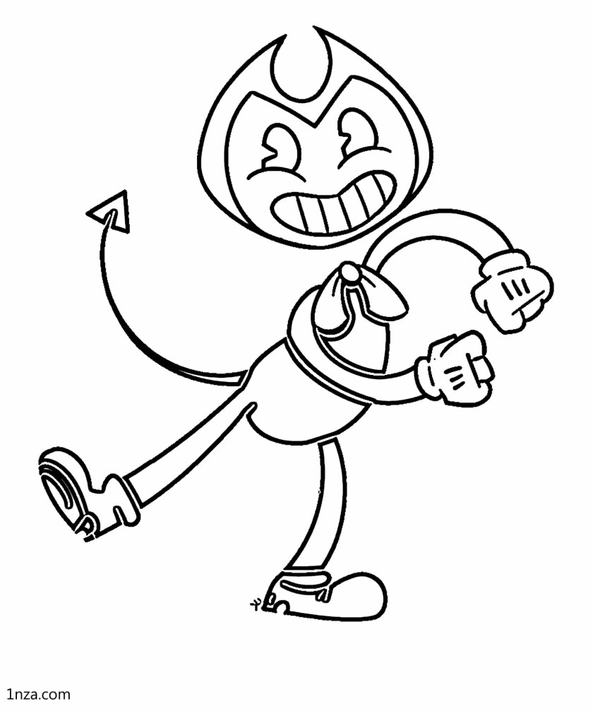 5 free printable bendy coloring pages  1nza