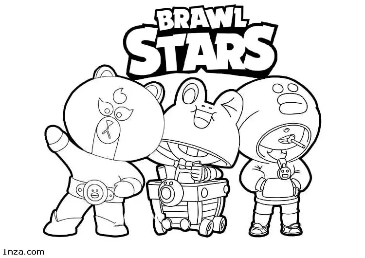 Brawl Stars Coloring Pages 1nza
