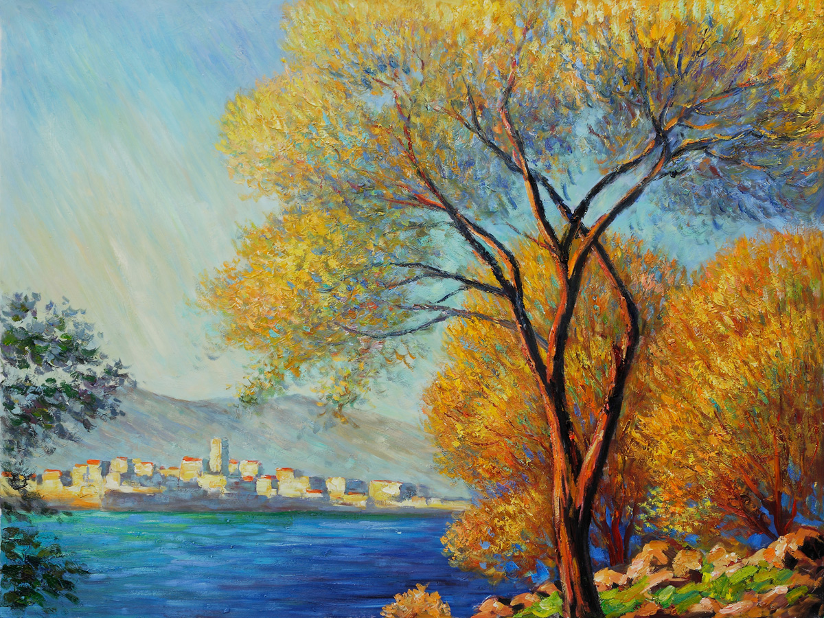 Antibes, View Of Salis-Claude Monet Painting - Click Image to Close