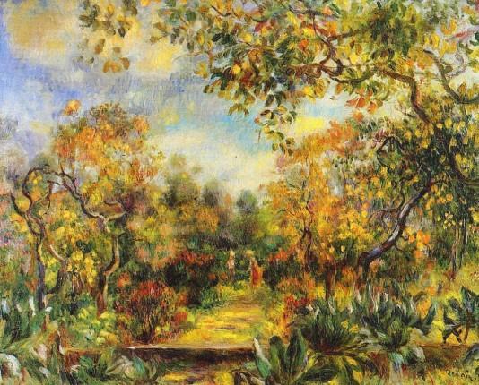 Beaulieu Landscape - 1893 - Pierre Auguste Renoir Painting - Click Image to Close