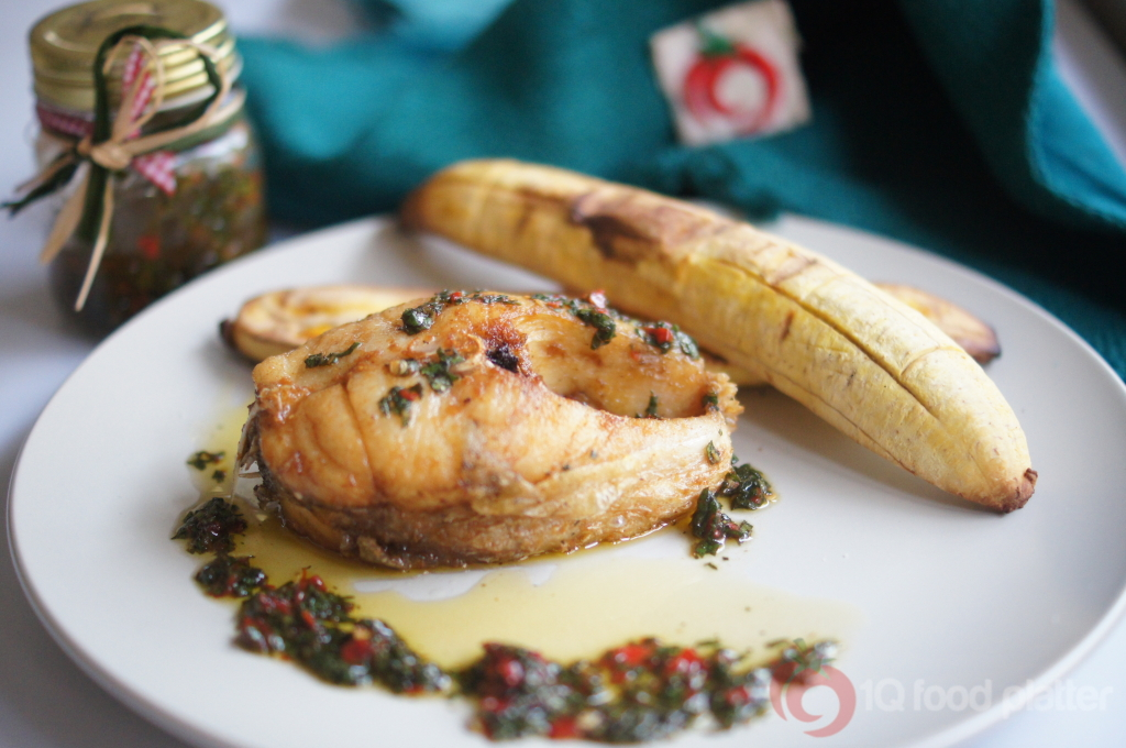 Boli and fish with spicy effirin top nigerian food blog for What is the best oil to fry fish in