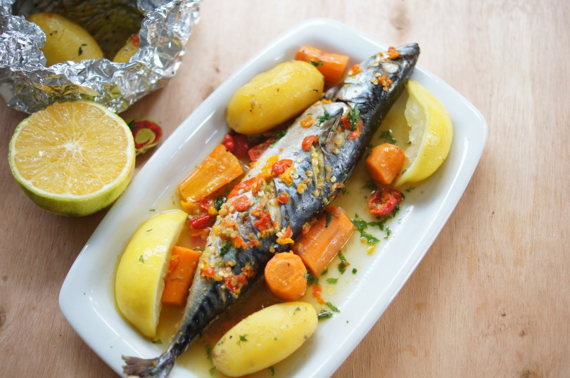 Mackerel fish in Orange sauce