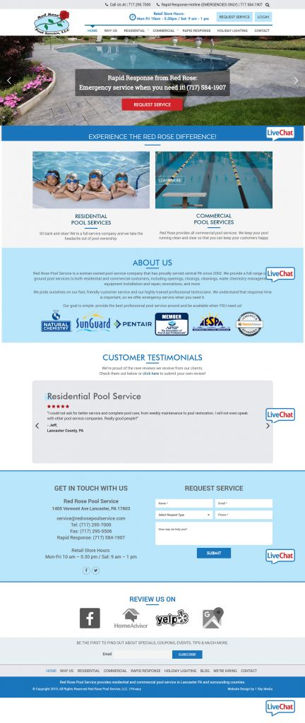 Pool Services Website Design