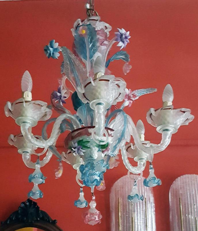 vetro (11 elementi) colore vetro: Lampadario Ca Rezzonico In Vetro Di Murano 1solo Com Pezzi Unici Per Definizione