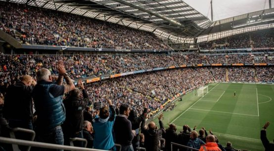 Premier League clubs ranked by percentage attendance