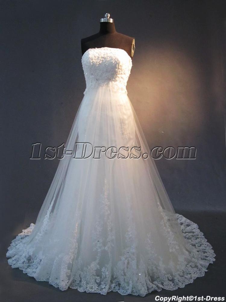 Detachable Train Lace Mermaid Bridal Gown IMG23631st