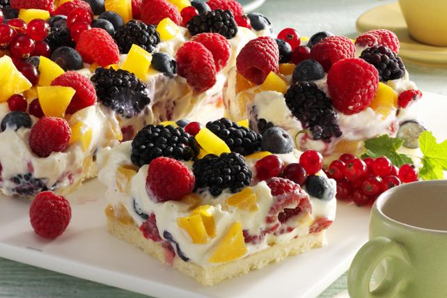 Mixed berry quark cake