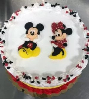 Plush Horse Ice Cream 1st Birthday Party Cake Mickey and Minnie