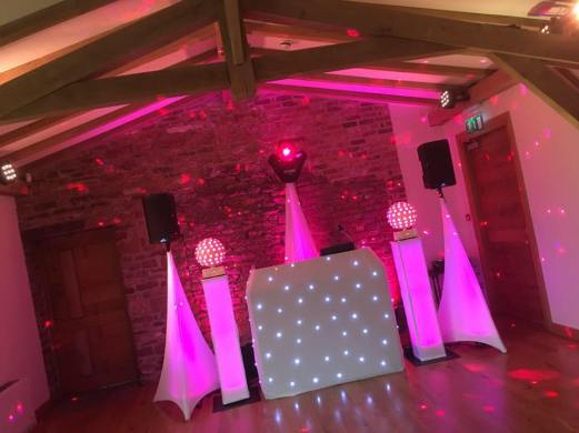 An example of one of our wedding discos at Dodford Manor