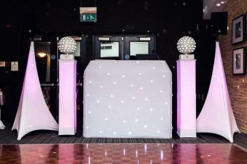 White disco for weddings