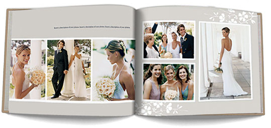 wedding book example