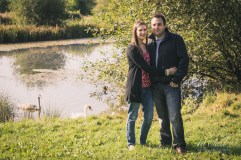 Natasha and Lee Hinchingbrooke Country Park Engagement Shoot in advance of their wedding at Hinchingbrooke House