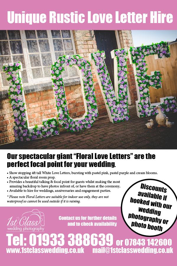 Floral Love Letter Hire
