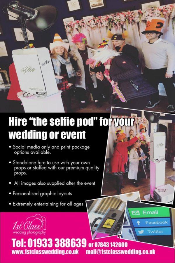 Selfie Pod Hire Northamptonshire