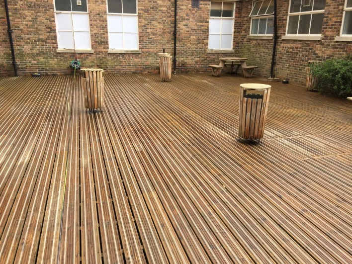 Jet Washing School Decking Finished 1st Commercial Cleaning Bournemouth