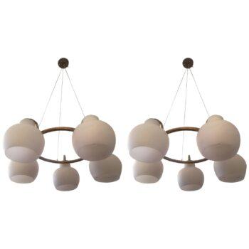 mid century walnut lamp