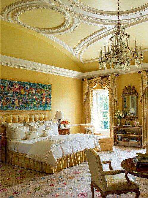 Pragmatic Chic   1stdibs Introspective In a bedroom in the New Jersey home  Cullman made choices about color   pattern and furnishings in complete concert with the home s  18th century inspired