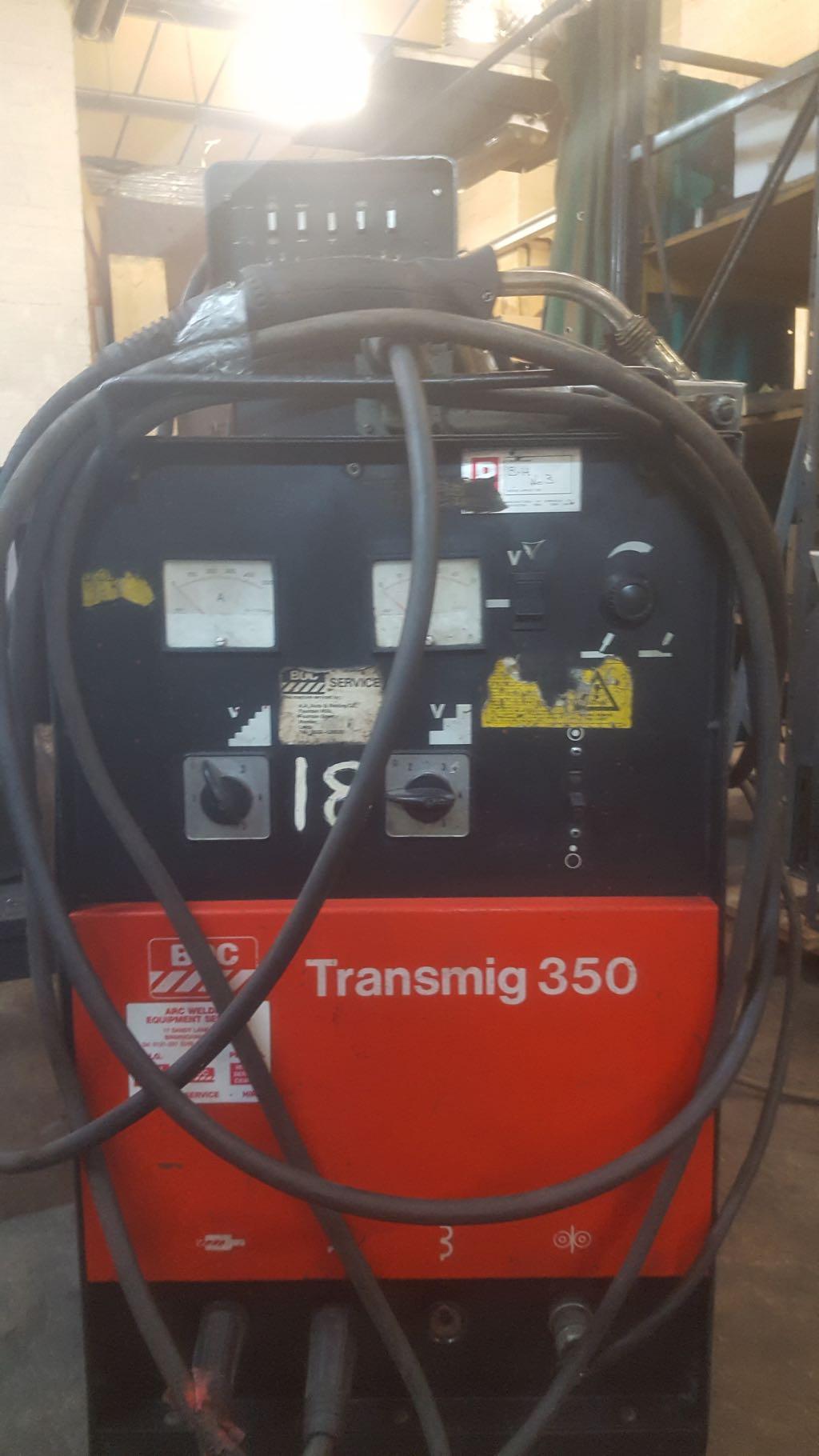 Boc Transmig 350 Mig Welder With Boc Tf2 0s Wire Feed Unit