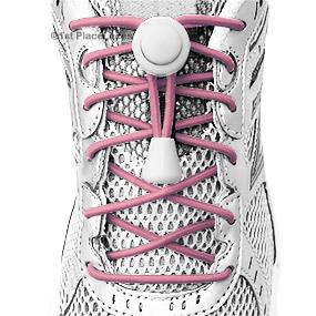 BC Awareness Pink elastic no tie locking shoelaces