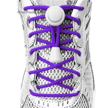 Electric Purple elastic no tie locking shoelaces