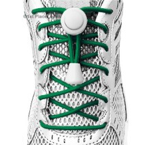 Green elastic no tie locking shoelaces